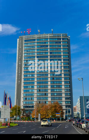 Germany, Berlin, office tower of Ernst and Young Stock ...