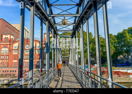 Siemenssteg, Am Spreebord, Charlottenburg, Berlin, Deutschland - Stock Photo