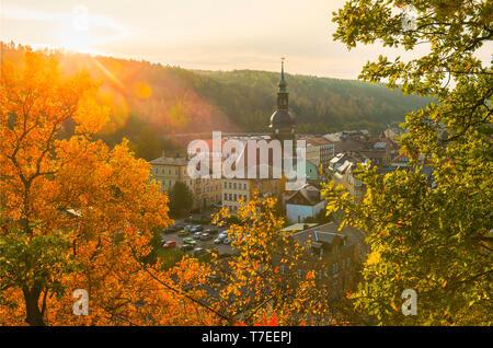 Bad Schandau, Nationalpark Saechsische Schweiz, Sachsen, Deutschland - Stock Photo
