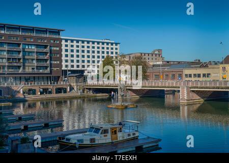 Binnenhafen Bassin, Maastricht, Niederlande - Stock Photo