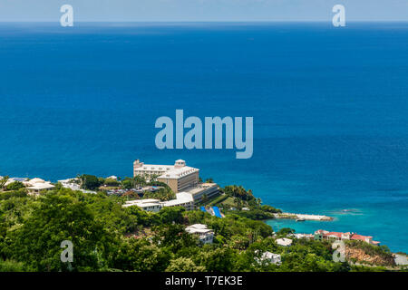 Marriott's Frenchman's Reef & Morning Star Beach Resort, Morningstar Beach, St. Thomas, US Virgin Islands. - Stock Photo