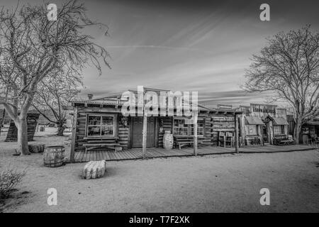 Famous Pioneertown in California in the evening - CALIFORNIA, USA - MARCH 18, 2019 - Stock Photo