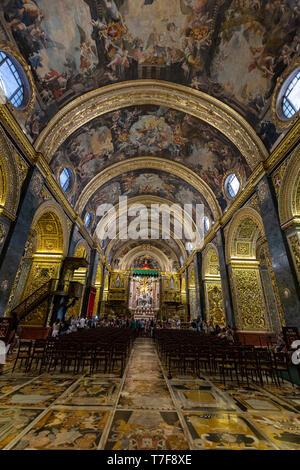 Malta, Malta, Valletta, St John's Co-Cathedral - Stock Photo