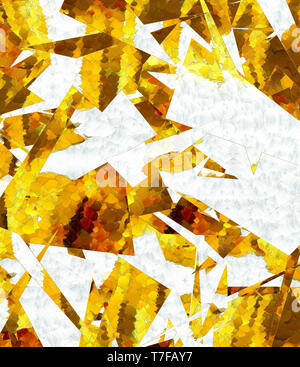 Abstract graphic painting golden background. Elite and rich pattern. Liquid gold fractal art. Stock Photo
