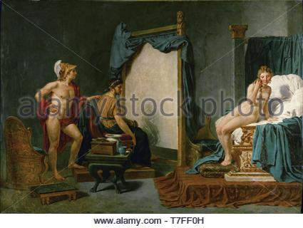 Jacques-Louis-David-Apelles Painting Campaspe in the Presence of Alexander the Great - Stock Photo