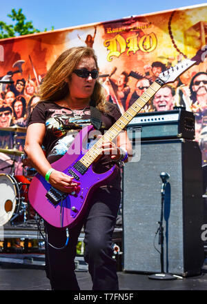 May 5, 2019, Encino, California, Dia an all female Dio tribute at the 2019 Ride for Ronnie charity concert at Los Encinos State Historic Park. - Stock Photo