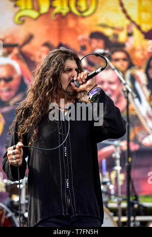 May 5, 2019, Encino, California, MICHAEL OLIVERI at the 2019 Ride for Ronnie charity concert at Los Encinos State Historic Park. - Stock Photo