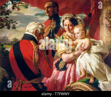 The First of May 1851, Queen Victoria family portrait painting by Franz Xaver Winterhalter,1851 - Stock Photo