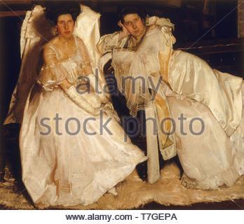 Hugh-Ramsay-The sisters - Stock Photo