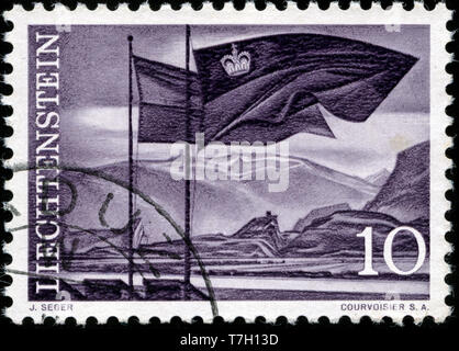 Postage stamp from Liechtenstein in the Landscapes (1959/61) series issued in 1959 - Stock Photo