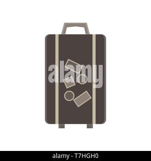 Travel bag vector suitcase illustration luggage trip  tourism concept design background vacation object - Stock Photo