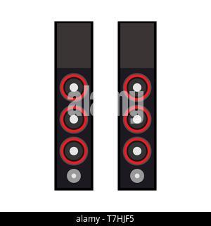 Speaker technology equipment design media volume electronic. Black system studio party sound device vector acoustic