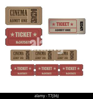 Ticket vintage vector luggage travel pass tag illustration design old. Retro isolated coupon - Stock Photo