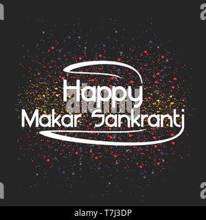 Celebrate Makar Sankranti background vector illustration card kite holiday - Stock Photo
