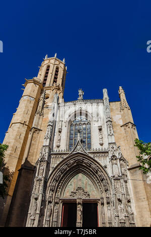 View at Paroisse Cathedrale Saint Sauveur Aix-en-Provence in France - Stock Photo