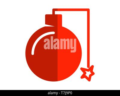 bomb flat icon. Element of bomb flat icon for mobile concept and web apps. Thin bomb flat icon can be used for web and mobile - Vector - Stock Photo