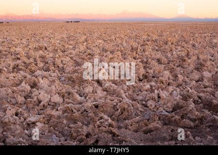 Salt crust in the Salar de Atacama (Atacama Salt Lake), Soncor, Atacama desert, Antofagasta Region, Chile - Stock Photo