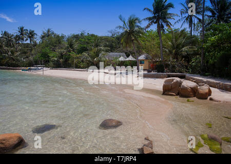 Island of Hong Ong, Whale island, Bay of Nha Trang, Vietnam, Asia - Stock Photo