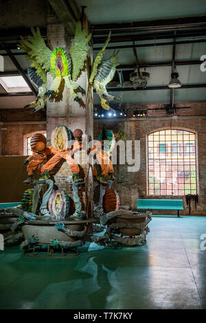 Venice, Italy. 07th May, 2019. Birth, Hi and Bye by Kris Lemsalu in the Estonian Pavilion. It is part of the City of Venice's 58th Biennale. Credit: Guy Bell/Alamy Live News - Stock Photo