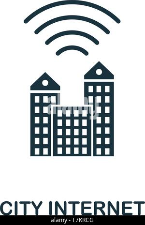 City Internet icon. Creative element design from icons collection. Pixel perfect City Internet icon for web design, apps, software, print usage. - Stock Photo