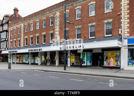 Debenhams store in Salisbury Wiltshire, England, UK - Stock Photo