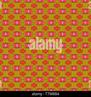 seamless graphics with coffee, dark golden rod and hot pink colors. repeatable background for customized products like gifts, invitations, clothes, cu - Stock Photo