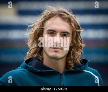 Portrait of Greek tennis player Stefanos Tsitsipas, Dubai, United Arab Emirates