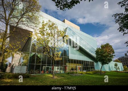 Canada, Quebec, Quebec City, Musee National des Beaux-Arts du Quebec, MNBAQ, pavillon Pierre-Lassonde, 2016, exterior - Stock Photo