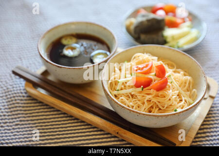 Cold noodles japanese food style