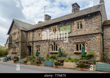 The Buck Inn in the centre of Malham in the Yorkshire Dales - Stock Photo