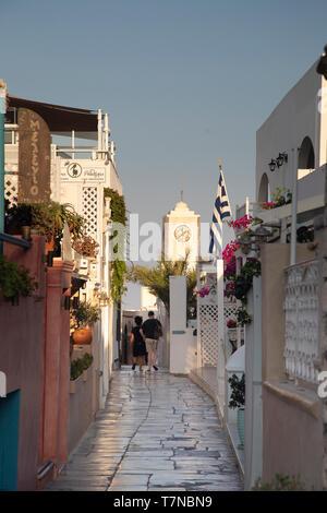 Greece, Cyclades islands, Santorini (Thira), Ia (Oia) - Stock Photo
