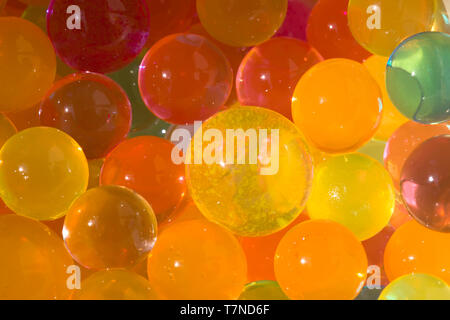 Background from bright colored balls - Stock Photo