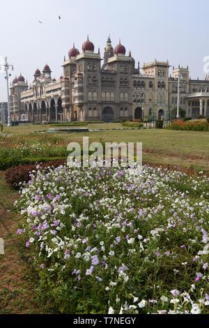 The Royal Seat of the Maharajas of Mysore, Mysore Palace, India - Stock Photo