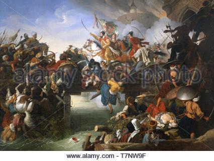 Peter-Krafft-Zrnyis Charge from the Fortress of Szigetvr - Stock Photo