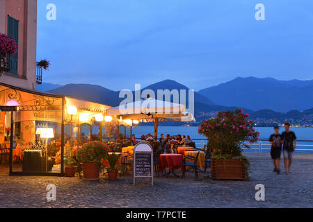 Italy, Lombardy, Iseo lake (Il Lago d'Iseo), Pisogne port - Stock Photo