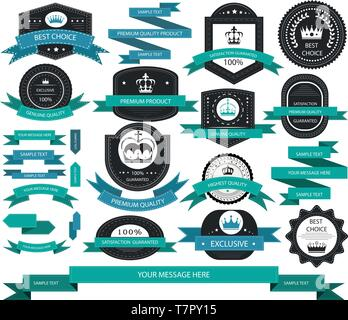 Vector set of sale labels - Stock Photo