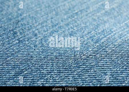 Texture of blue jeans as background, space for text - Stock Photo