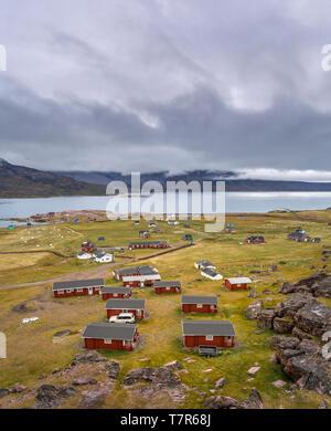Cabins, Igaliku, Greenland