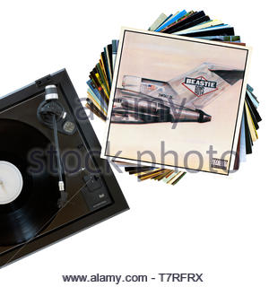 The Beastie Boys, Licensed yo Ill debut album, record player and album, England - Stock Photo