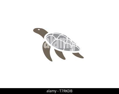 Turtle or tortoise swimming Logo - Stock Photo