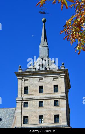 Royal Site of San Lorenzo de El Escorial, Monasterio y Sitio de El Escorial en Madrid, Monasterio del Escorial, Spain, UNESCO World Heritage Site - Stock Photo