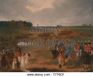 Unbekannter-Knstler-A Review of the London Volunteer Cavalry and Flying Artiller - Stock Photo