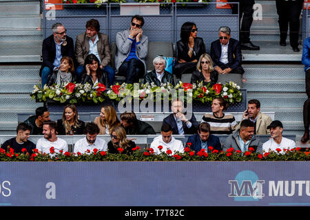 Caja Magica, Madrid, Spain. 8th May, 2019. Mutua Madrid Open, day 5; Jan Black, Filipe Luis of Atlético Madrid watches the play Credit: Action Plus Sports/Alamy Live News - Stock Photo