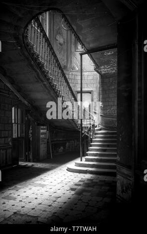 An old stairwell in Tbilisi, Georgia - Stock Photo