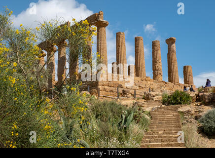 Temple of Juno, Valley of the Temples, Agrigento, Sicily, Italy - Stock Photo