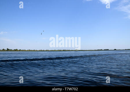 Fortuna Lake (Lacul Furtuna). Danube biosphere reserve - Danube delta, Romania. - Stock Photo