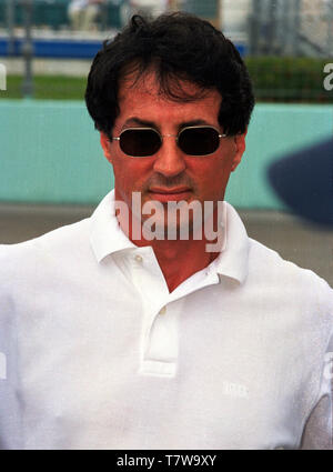 Actor Sylverster Stallone attends the 1998 Grand Prix of Miami at Homestead-Miami Speedway. - Stock Photo