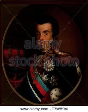 Simplicio-Rodrigues-de-Sa-Portrait of Dom Joao VI - Stock Photo