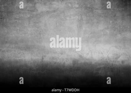 Old wall surface in two tone color with black and grey. Place for design. - Stock Photo