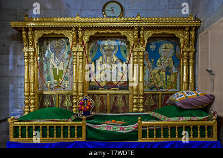 painting of sukh shaiya swaminarayan mandir Old City, Kalupur, Ahmedabad, Gujarat india - Stock Photo